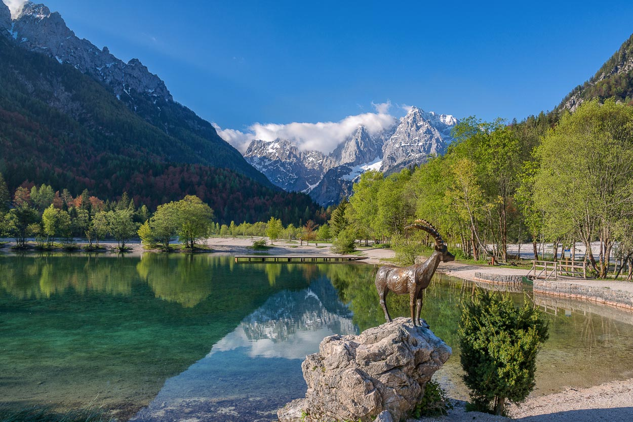 The view on lake Jasna
