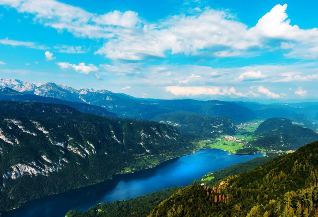 View of Lake Bohinj from Vogel mountain
