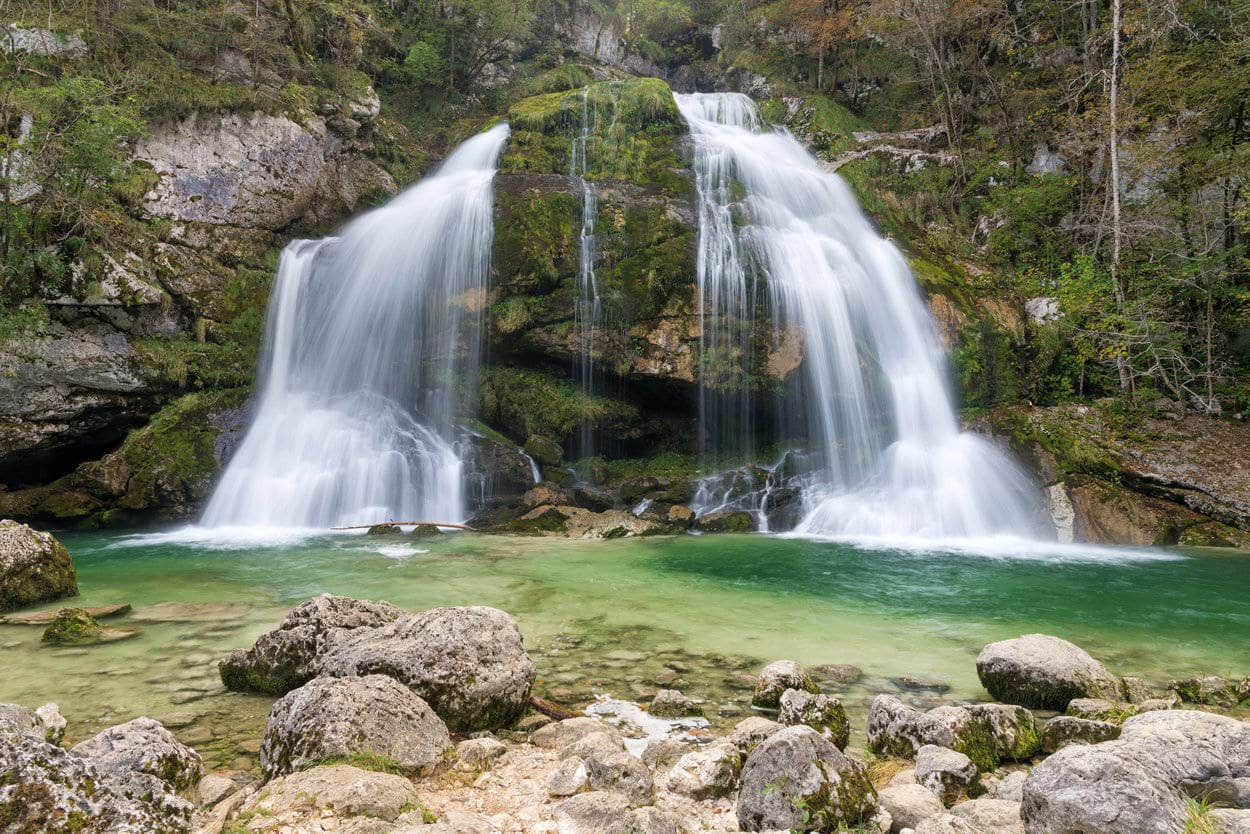 Beautiful waterfalls in Slovenia