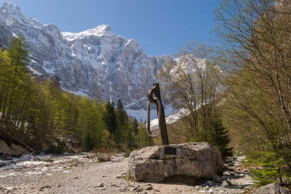 The view of Slovenia's highest mountain, Triglav from Vrata Valley