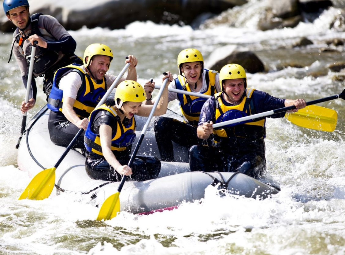 Rafting experience on Soča river