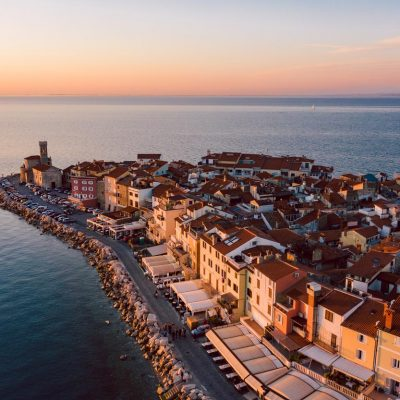 Evening view on Piran