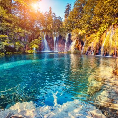 Breathtaking nature in Plitvice Lakes National Park in Croatia