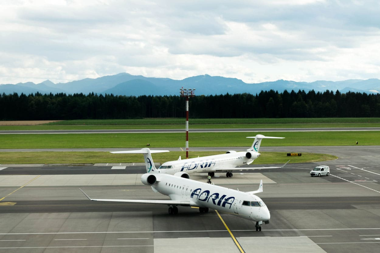 Planes in Ljubljana airport