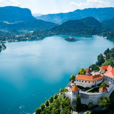 Bled Castle view from above