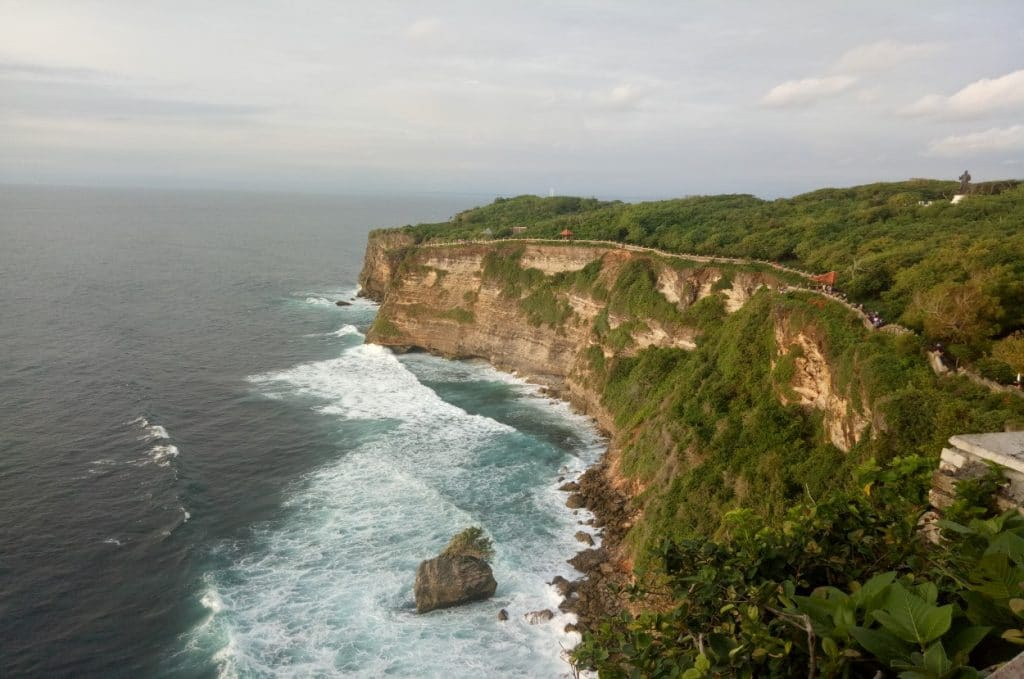 High cliff by the Bali coast