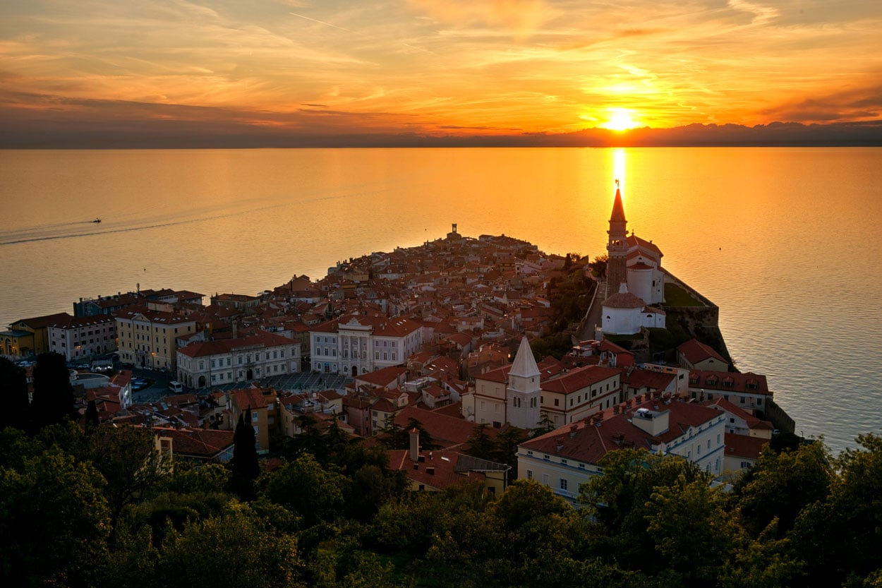 Photo tour in Piran Slovenia
