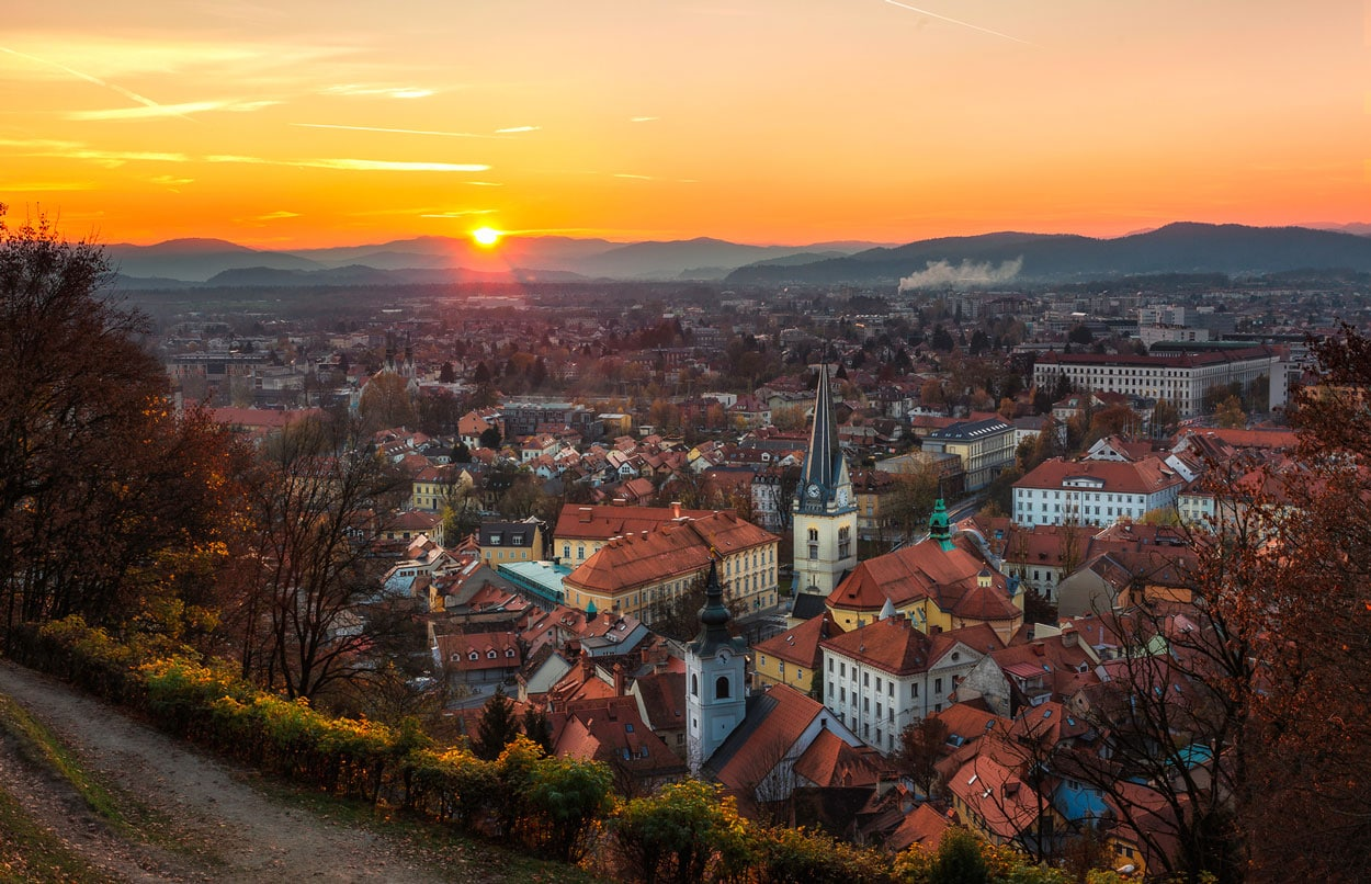 Perfect photo of Ljubljana from above
