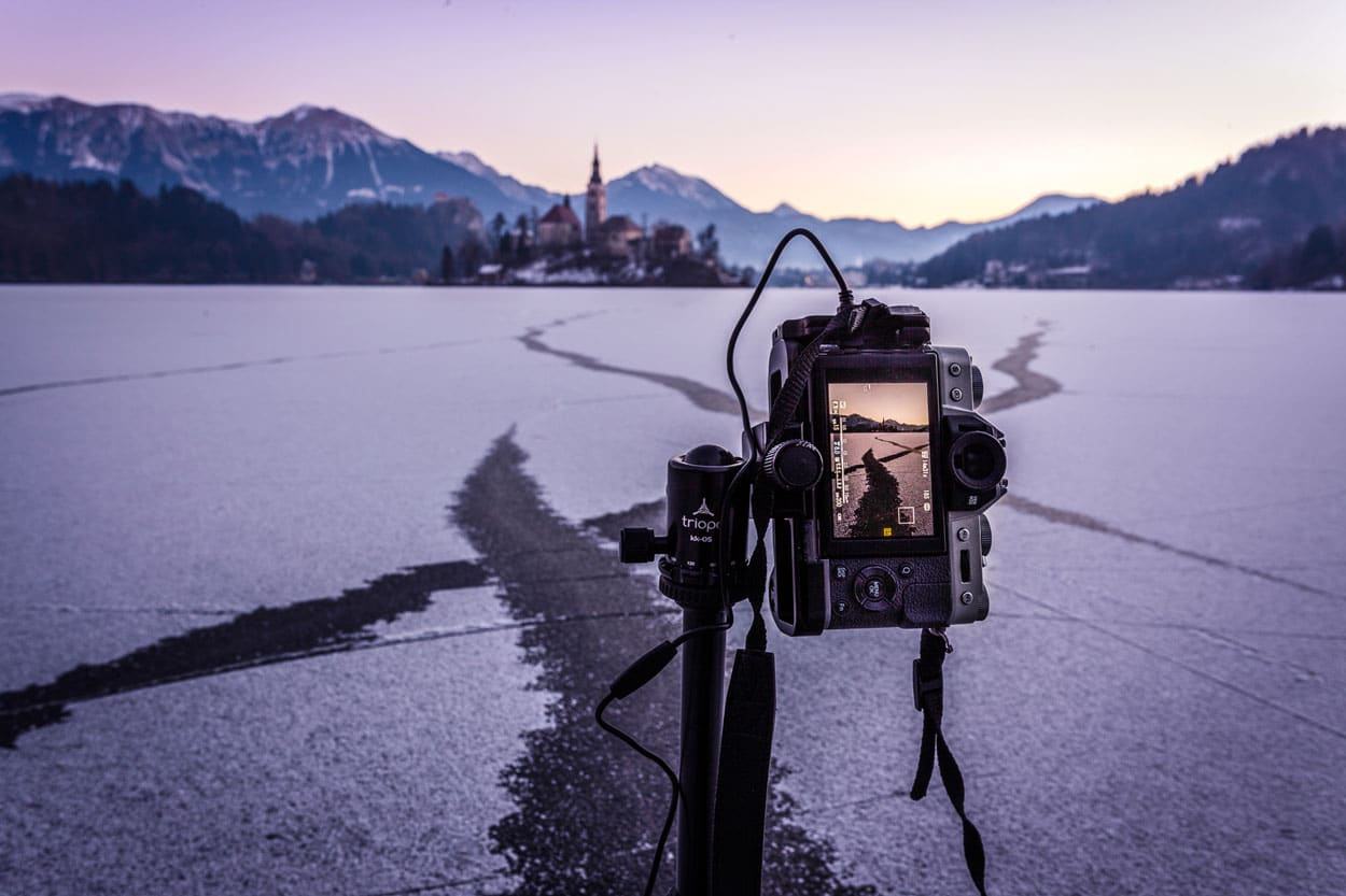 Photographer in Bled