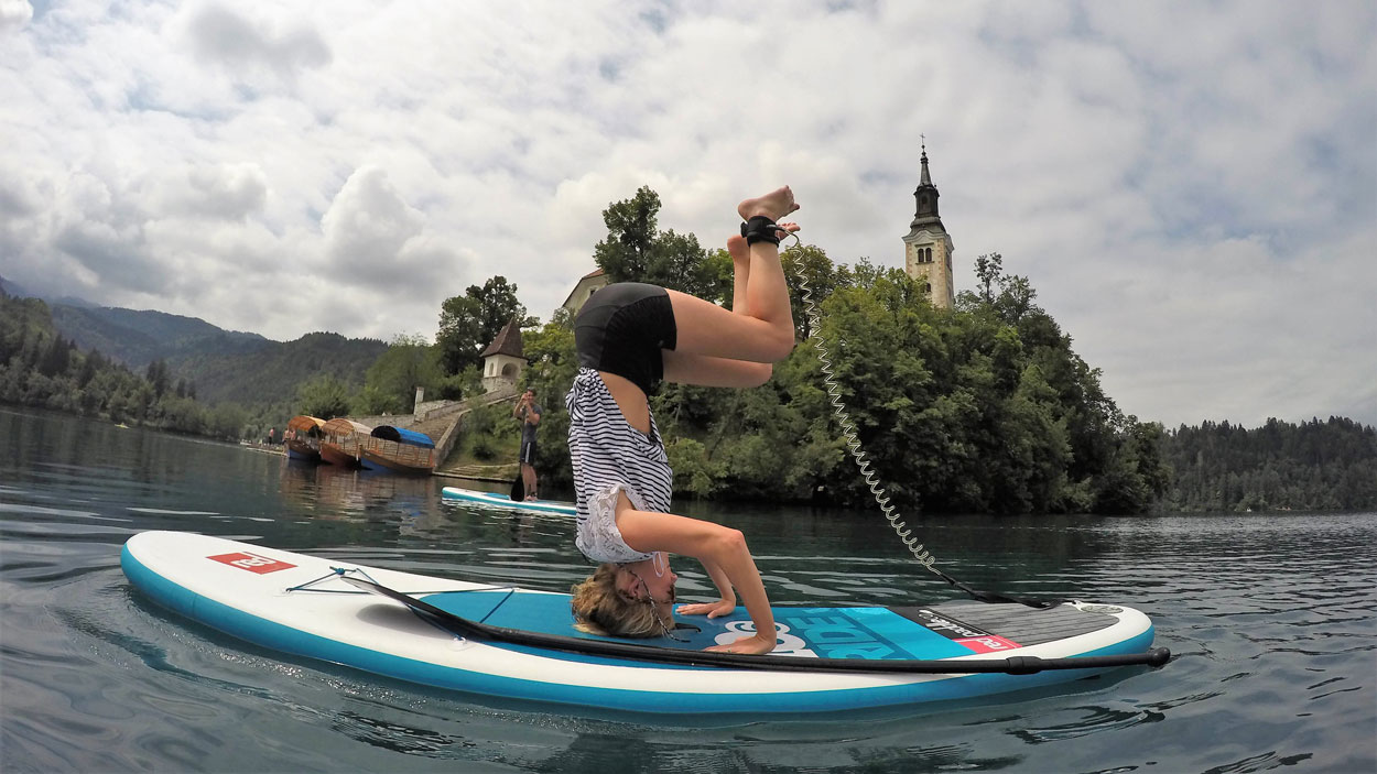 Stand up paddle boarding holidays on Lake Bled
