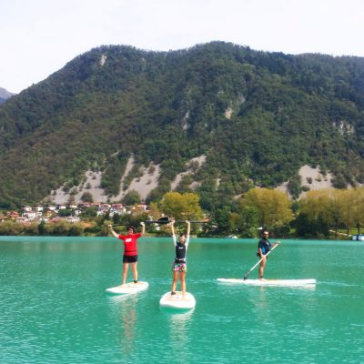 Stand-up paddle board Soča River