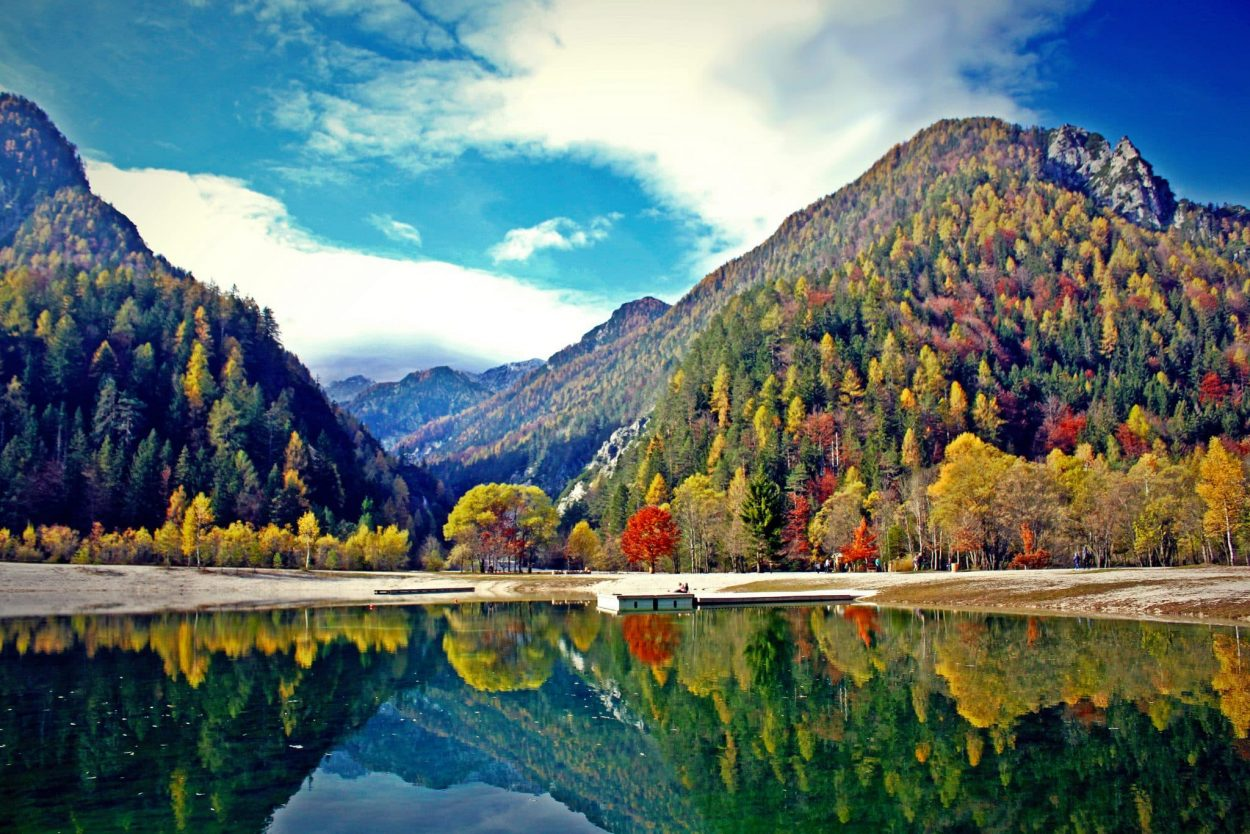 Lake Jasna in Autumn