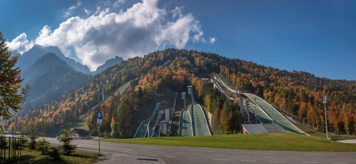 Planica Nordic Center in Tamar Valley