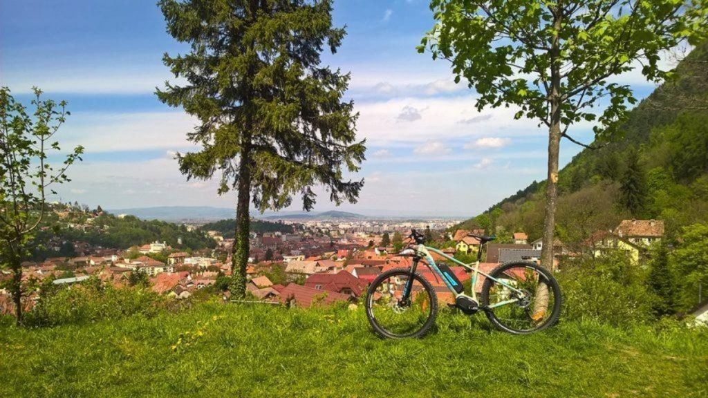 View over Brasov city from Crucea Mușicoiului, a nice meadow situated in Schei quarter