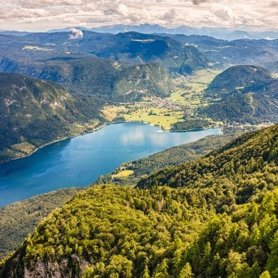 Vogel view on Lake Bohinj
