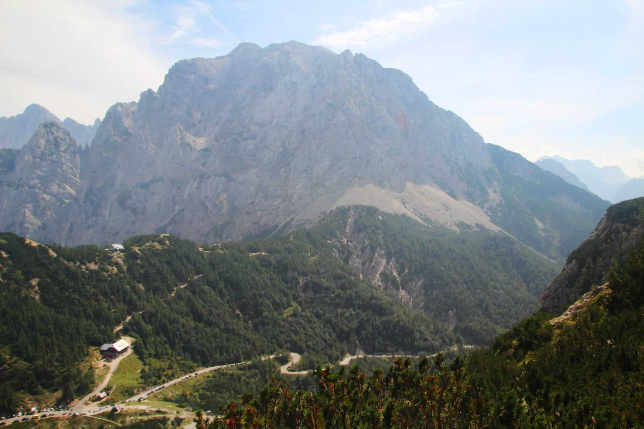 Vrsic pass in Slovenia