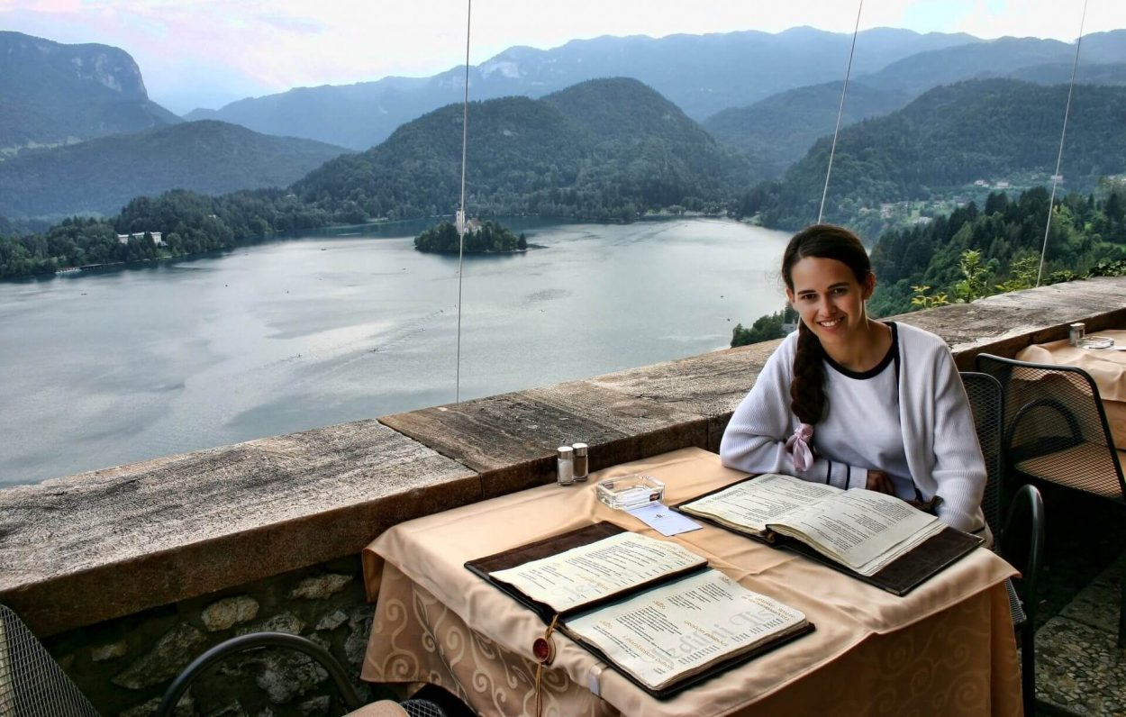 Lunch on Bled Castle