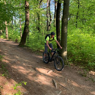 Mountain biking trails on Golovec hill in Ljubljana