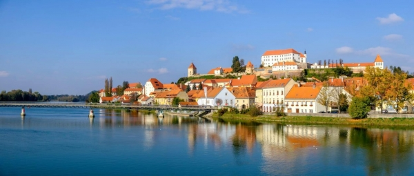 Ptuj, view from Drava river