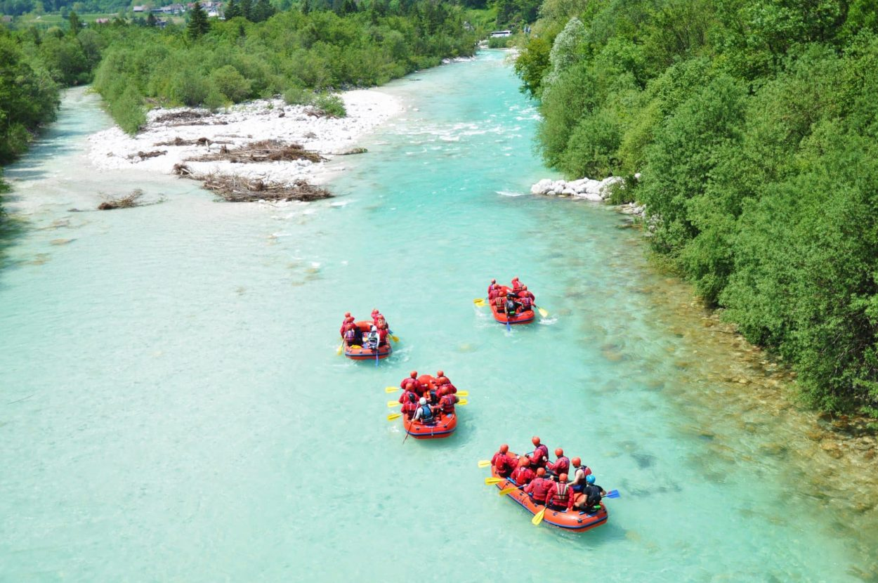 Rafting in Soča River