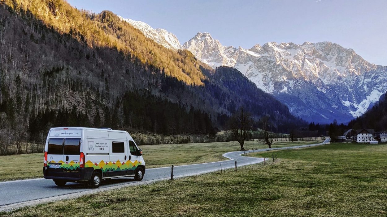 Campervan in Logar Valley