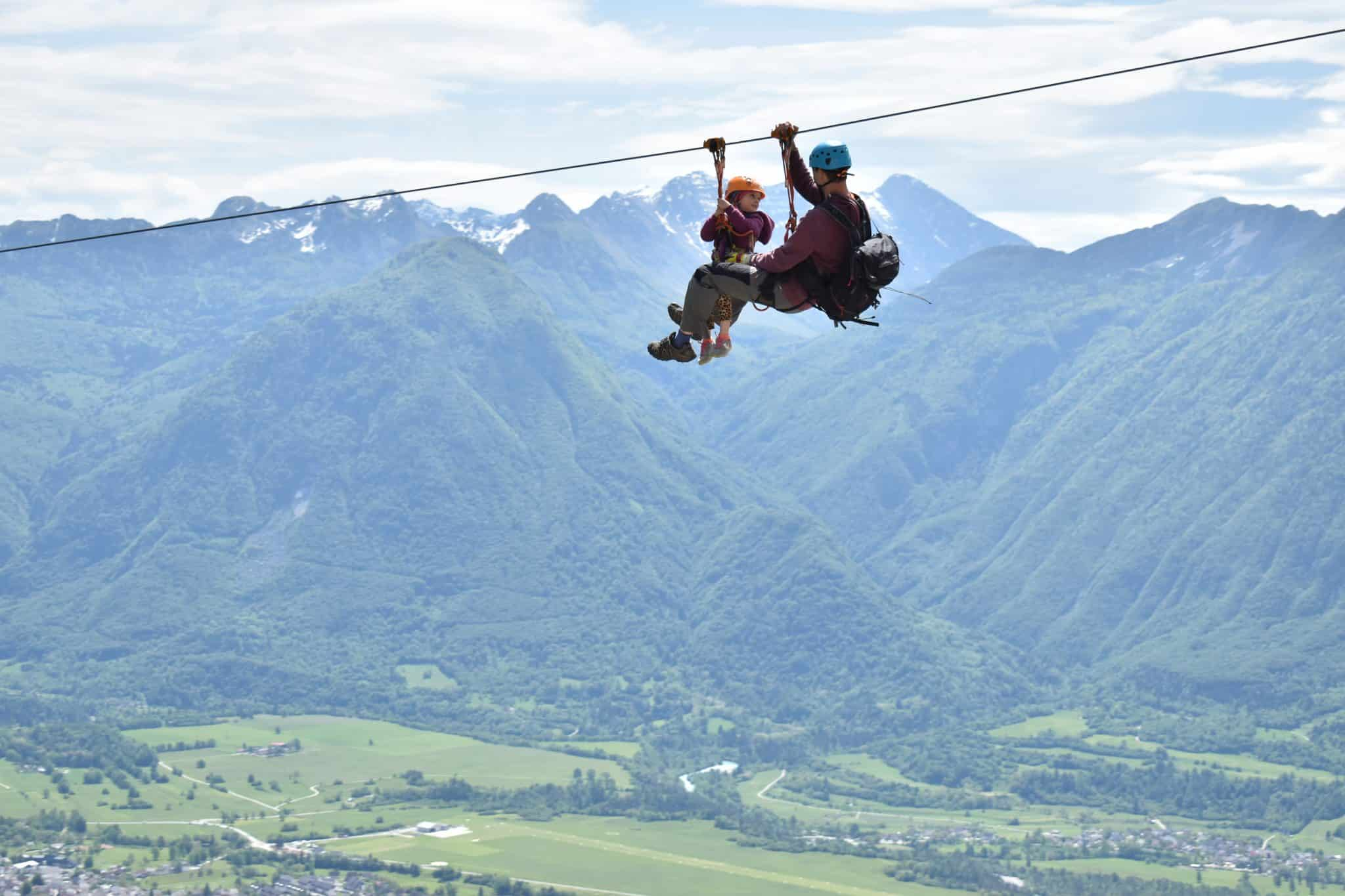 Zipline Bovec over Soča Valley is family-friendly