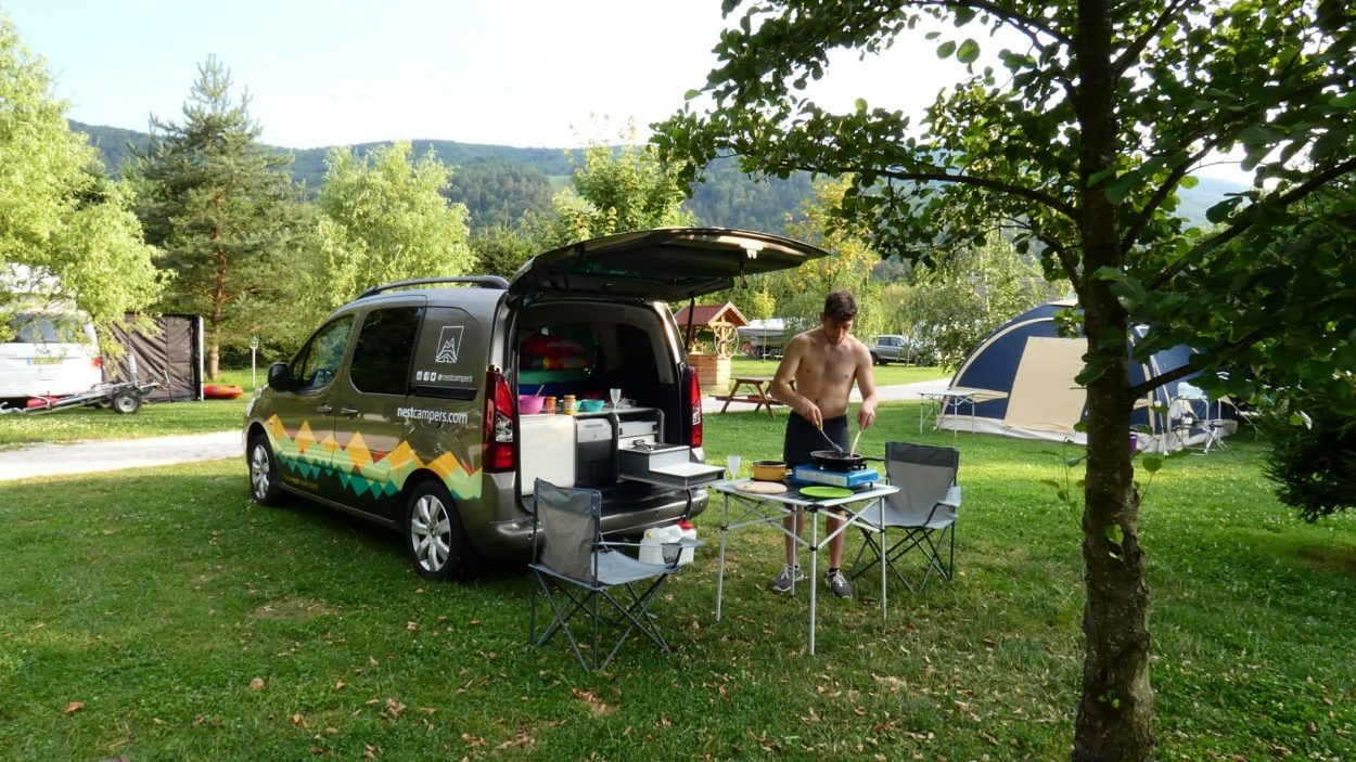 Small campervan camping site