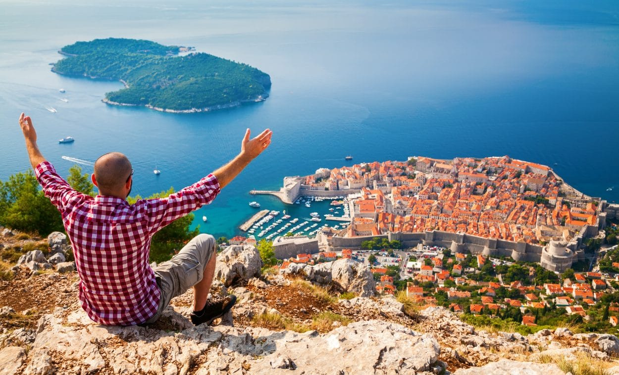 Dubrovnik view from Mount Srđ