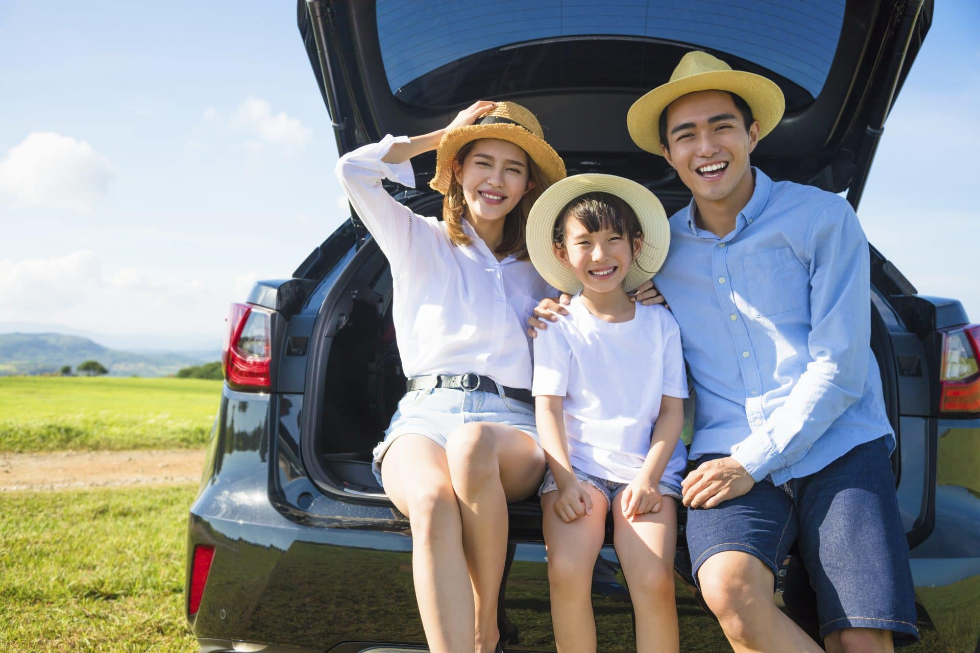 Asian family enjoying a self-guided holiday