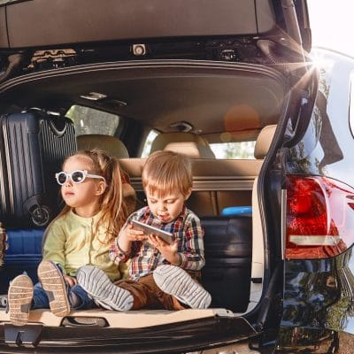 Children on a self-guided family holiday