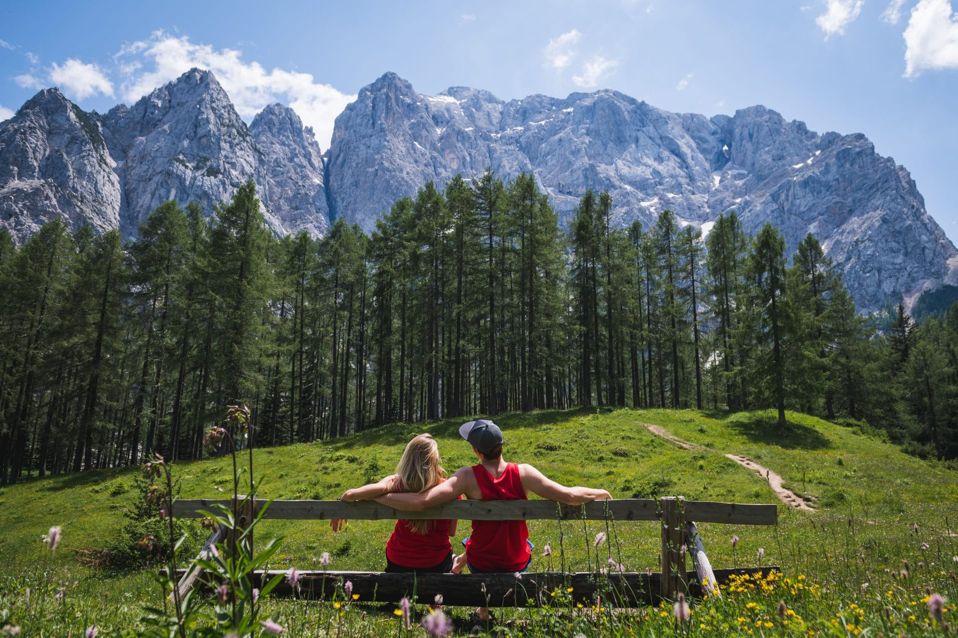 Couple at Vršič Pass