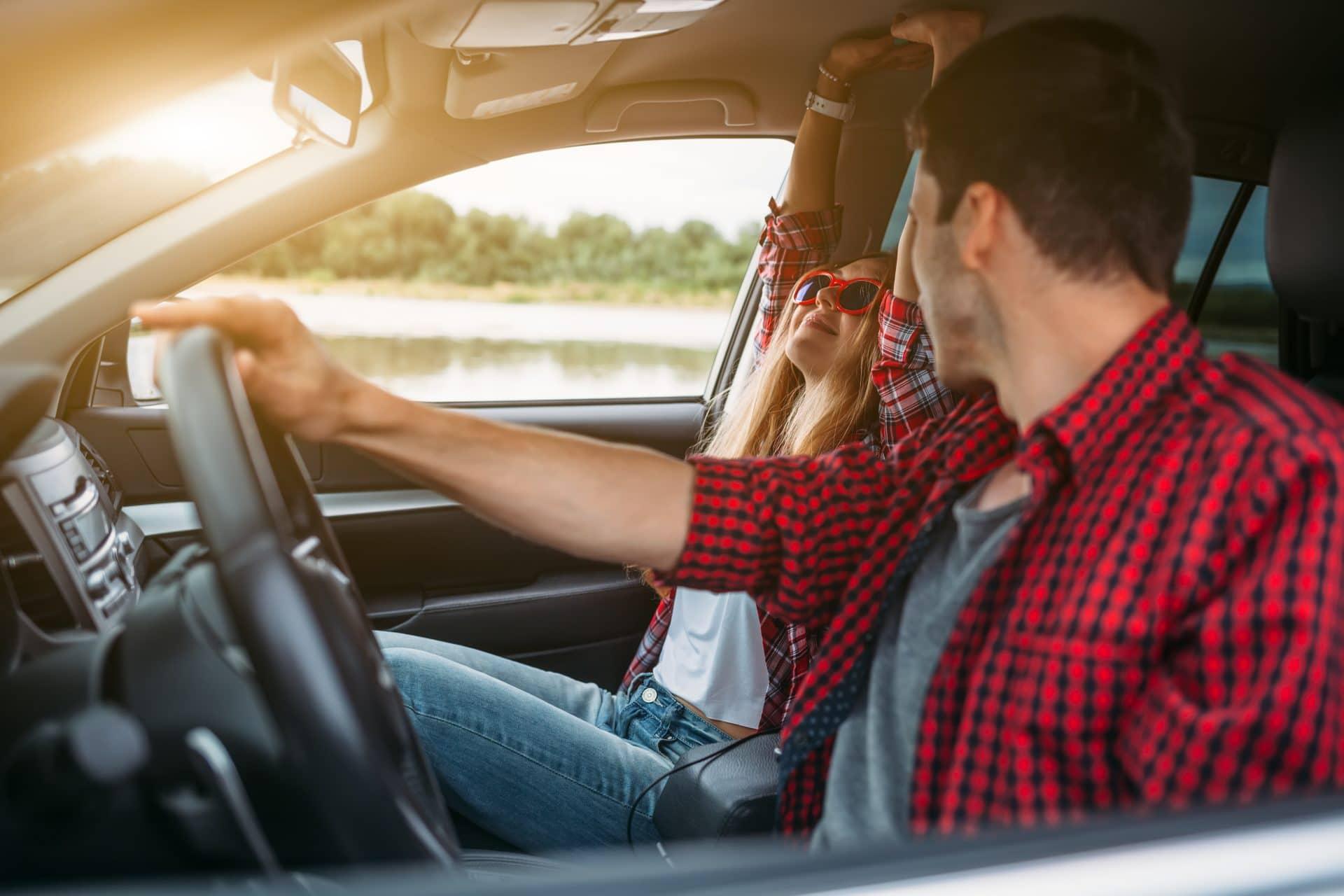 Couple enjoying their self-drive holiday