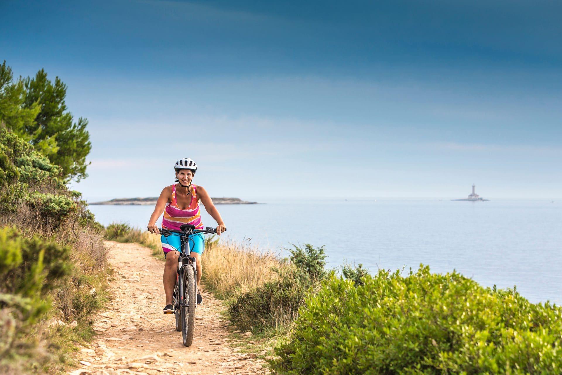 Cycling on Kamenjak Cape