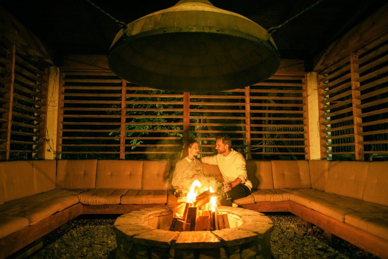 Garden Village Bled fireplace