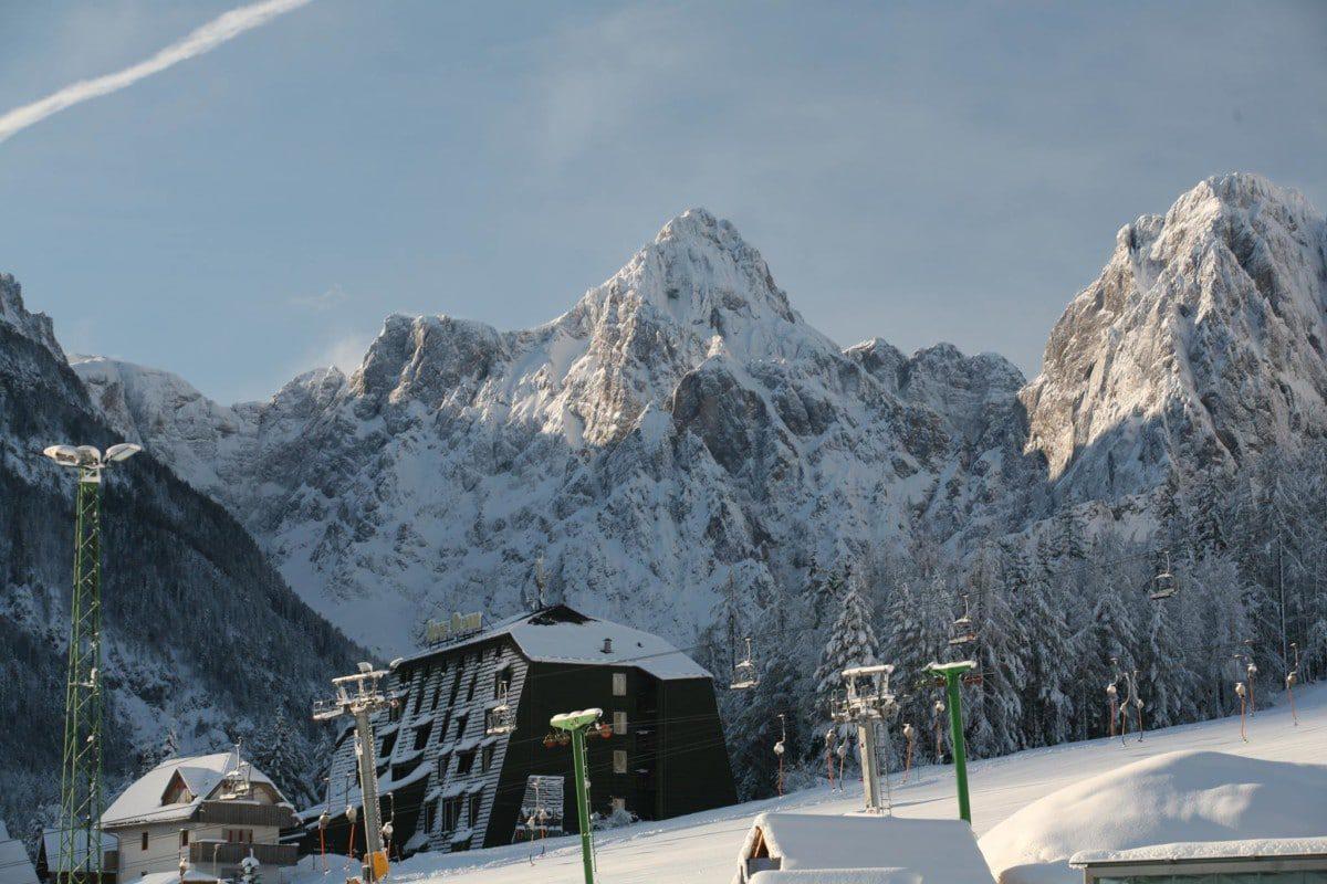 Hotel Alpina in winter