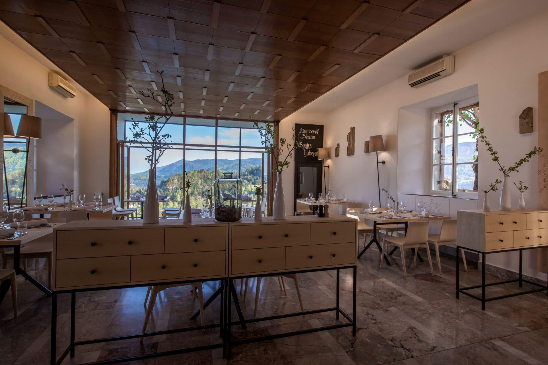 Restaurante del Castillo de Bled Jezeršek interor