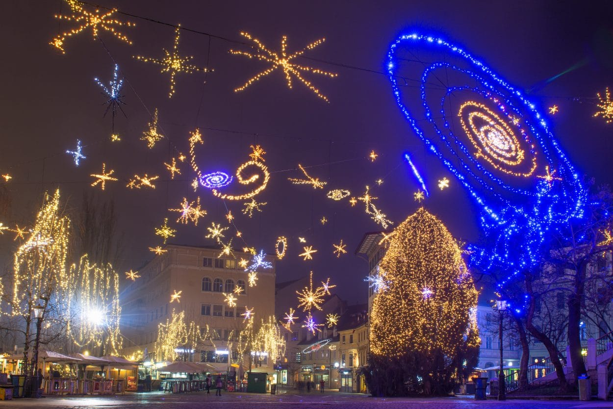 Ljubljana Christmas lights