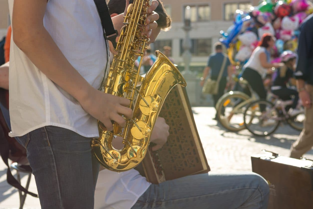 Músicos en Liubliana