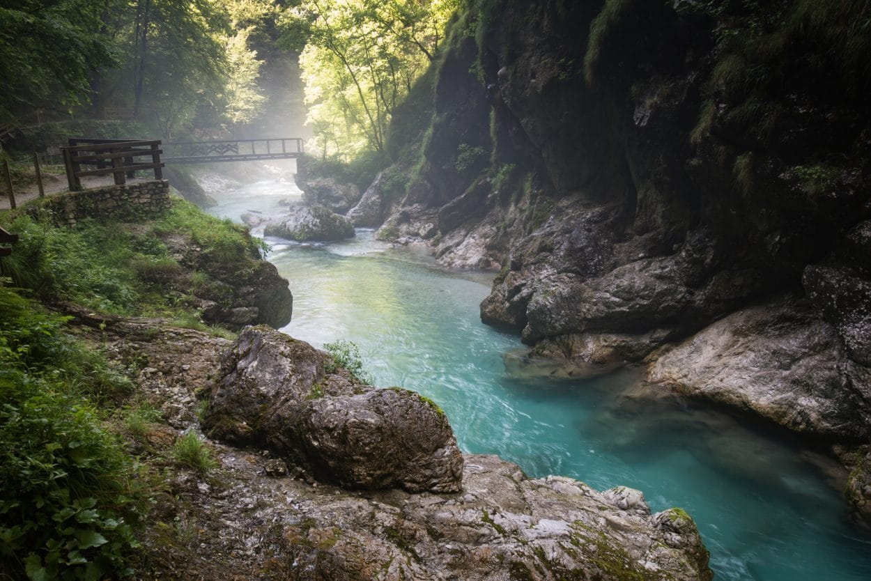Pathways in Tolmin Gorges