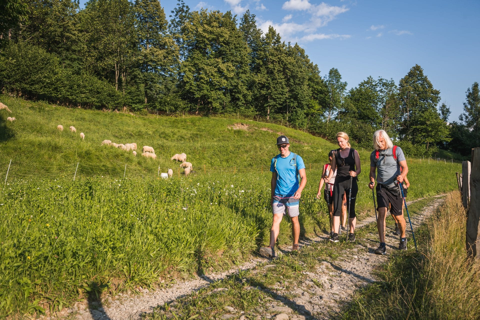 Hikers in Slovenia