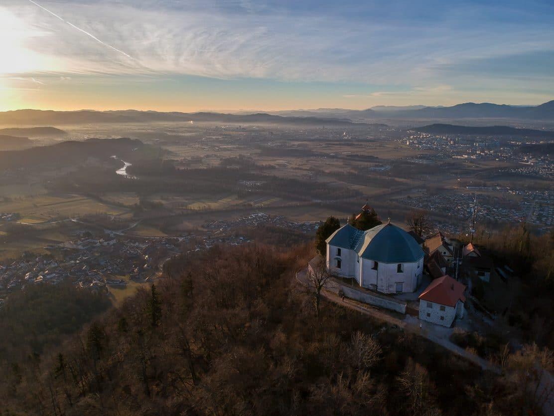 Šmarna gora or Mount St Mary near Ljubljana