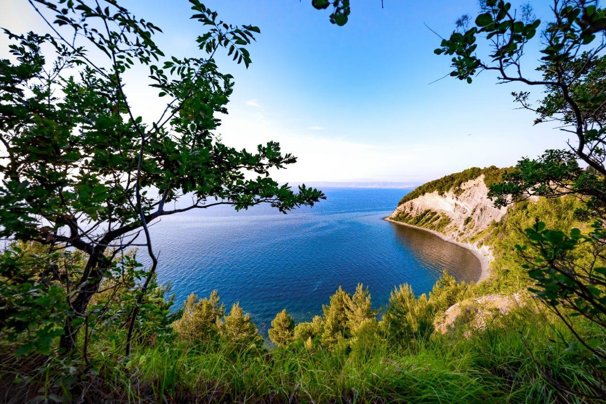 Strunjan beach