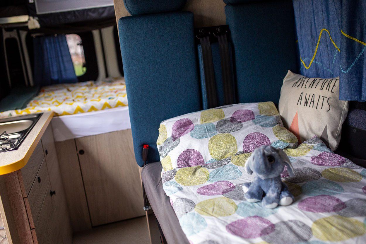 Larger campervan inside