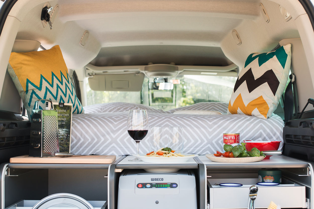Small campervan inside