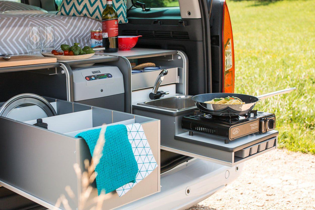Small campervan kitchen