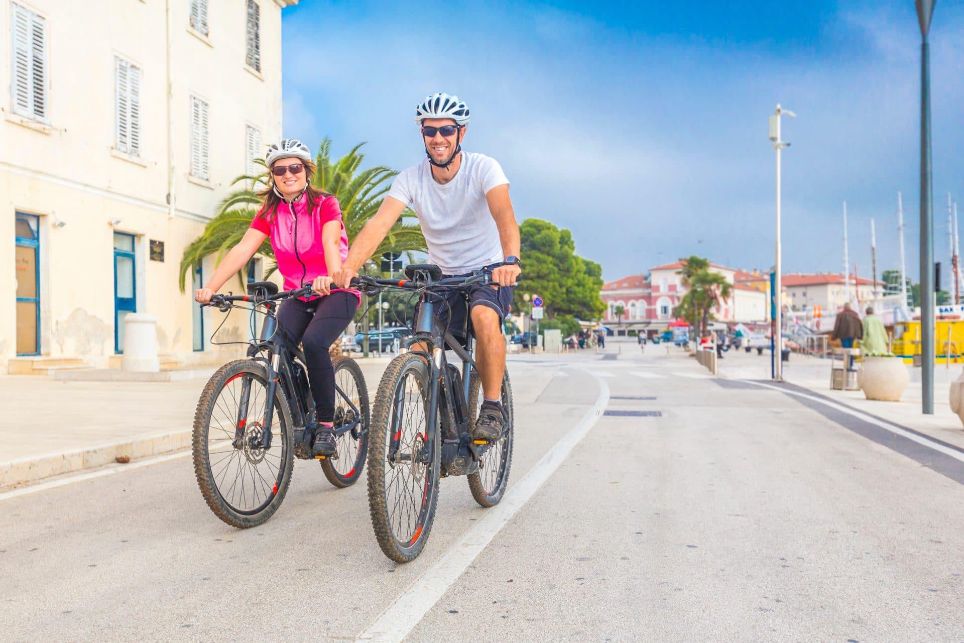 E-bike cycling in Rovinj