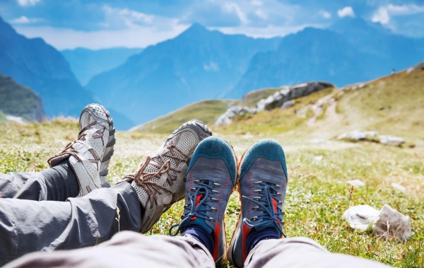Shoes for hiking in Slovenia